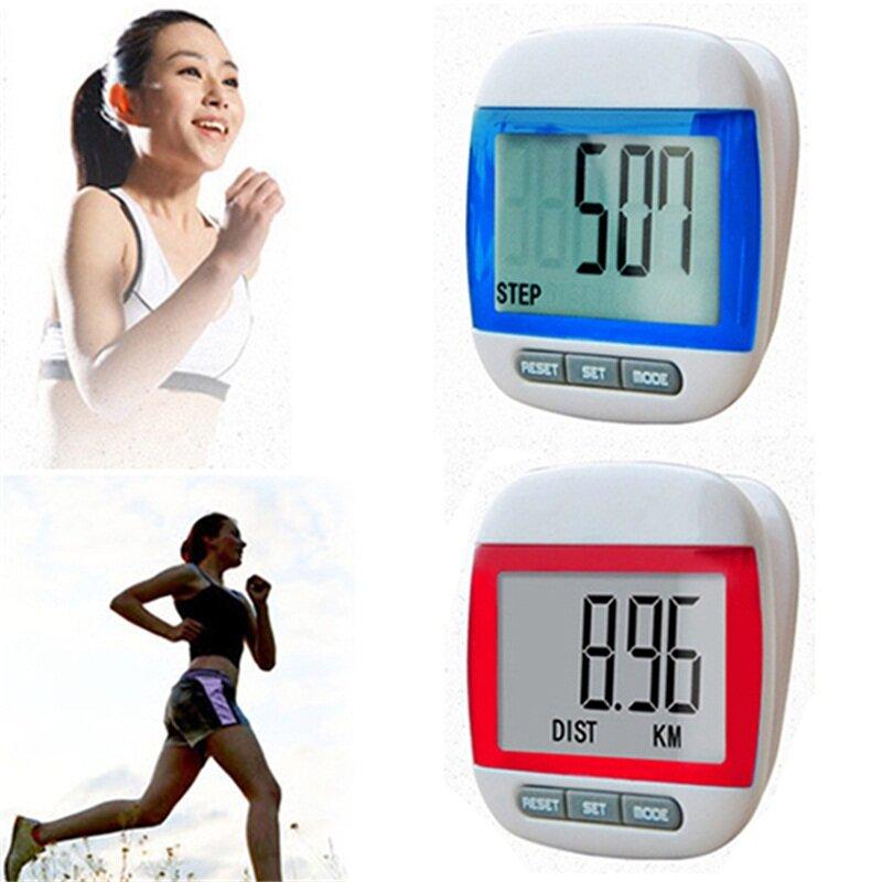 Nouveau Mini podomètre numérique multifonction de compteur de Calories de mouvement d'étape imperméable pour courir