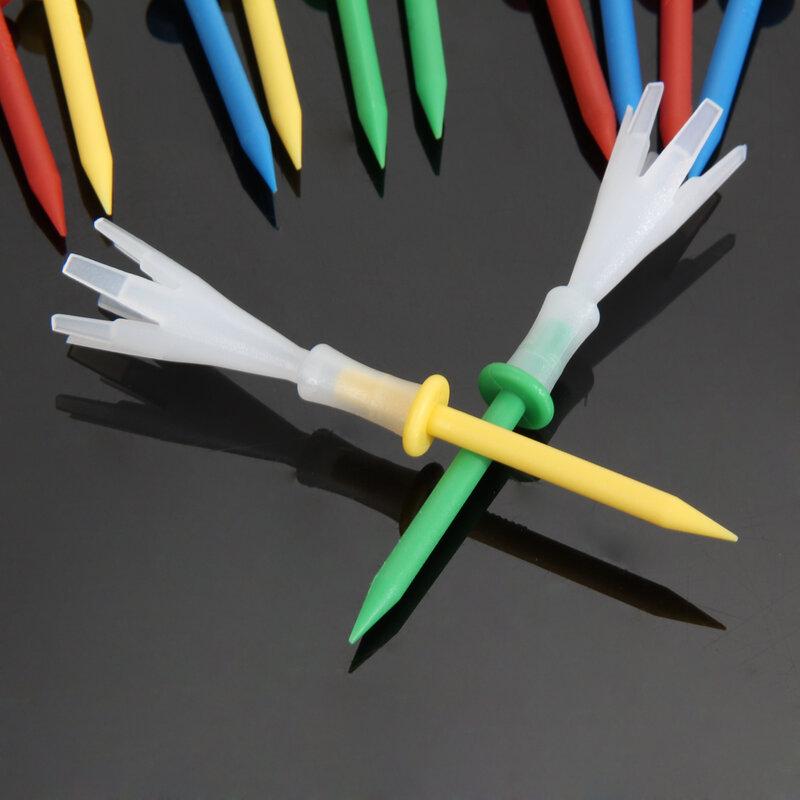 12ชิ้น/ล็อต Multi สีพลาสติก Tees กอล์ฟ3 1/4นิ้ว Tees กอล์ฟ3.25 ''Tee 4สนามหญ้า Gonkux อุปกรณ์กอล์ฟ
