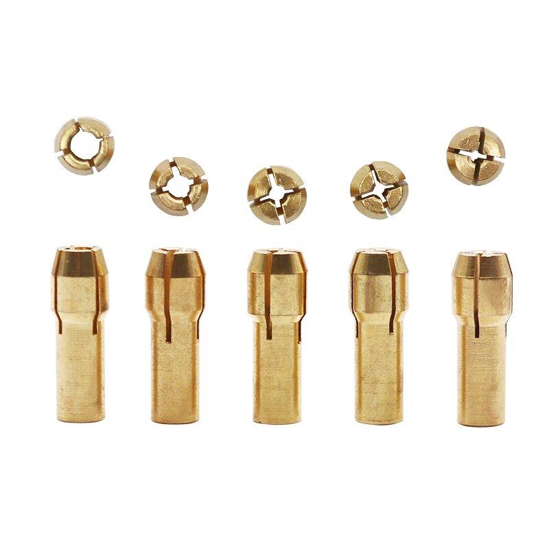 QSTEXPRESS di Alta Qualità best Prezzo 5 pz/set 0.5-3 millimetri Piccolo Elettrico Punta del trapano Pinza Micro Twist drill Mandrino Set