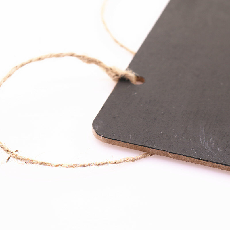 ใหม่185มม.X 85มม.Mini กระดานดำไม้ข้อความแขวนงานแต่งงาน Decor Board Holder