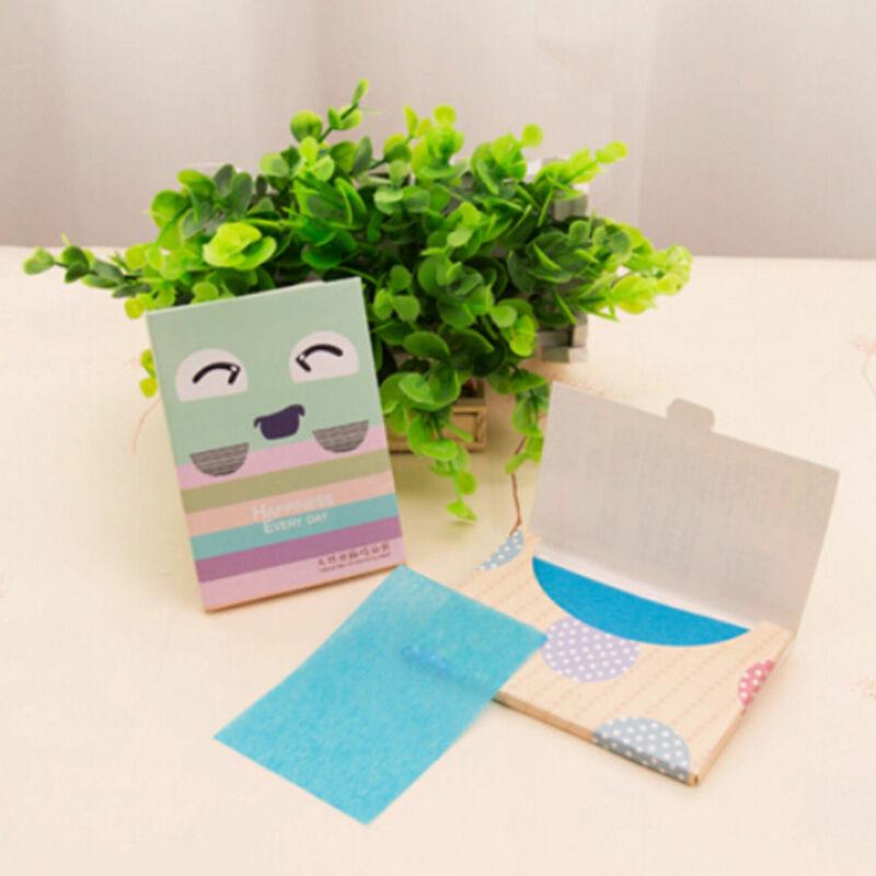 Lote de 50 hojas de maquillaje absorbentes de aceite, herramientas de belleza de papel para limpieza Facial, envío aleatorio
