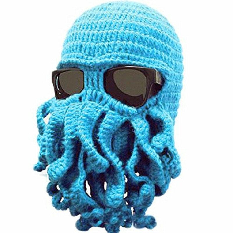 BomHCS بالجملة مضحك اللامسة الأخطبوط Cthulhu قبعة متماسكة قبعة قبعة قناع الرياح