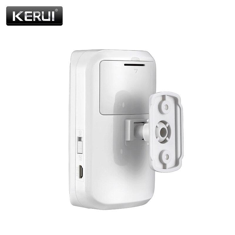 KERUI Mini لاسلكي ذكي PIR محس حركة كشاف جهاز الإنذار ل GSM PSTN المنزل لص نظام إنذار مضاد للسرقة الأمن