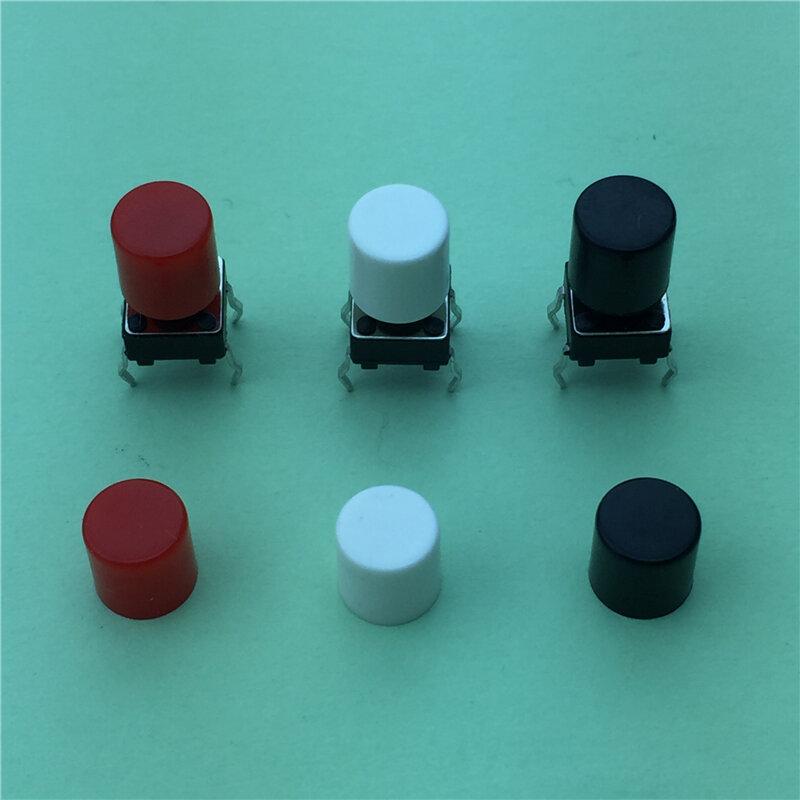 100 قطعة/الوحدة الأحمر البلاستيك كاب قبعة ل 6*6 ملليمتر G61 اللمس دفع زر التبديل غطاء غطاء شحن مجاني