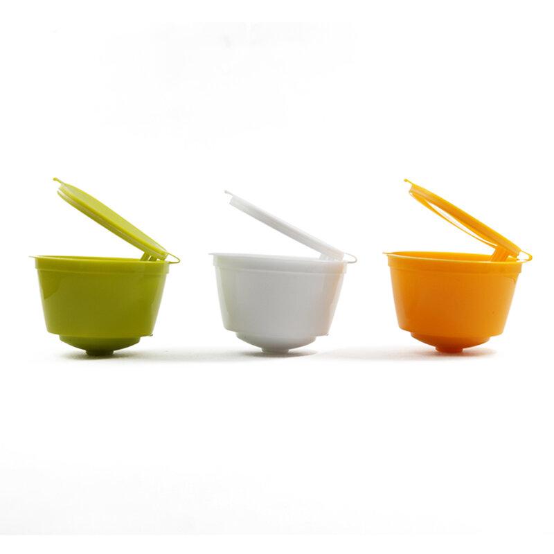 สรุป 3pcs Reusable เติมแคปซูล Pods สำหรับ Nescafe Dolce Gusto เครื่องทำกาแฟแคปซูล Cafeteira