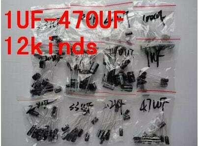 120pcs 1 세트 120pcs 12 값 0.22 미크로포맷-470 미크로포맷 알루미늄 전해 커패시터 구색 키트 세트 팩 무료 배송
