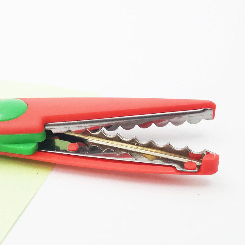 XYDDJYNL-Herramienta de decodificación artesanal para niños, tijeras de encaje, papel para álbum de recortes, decoración diaria, álbum de seguridad hecho a mano, 6 uds.