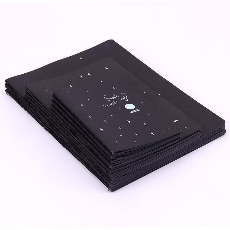 Bloc de notas de papel negro, agenda, 16K, 32K, 56K, boceto, grafiti, cuaderno para dibujar, pintura, oficina, escuela, regalos de papelería, 1 ud.