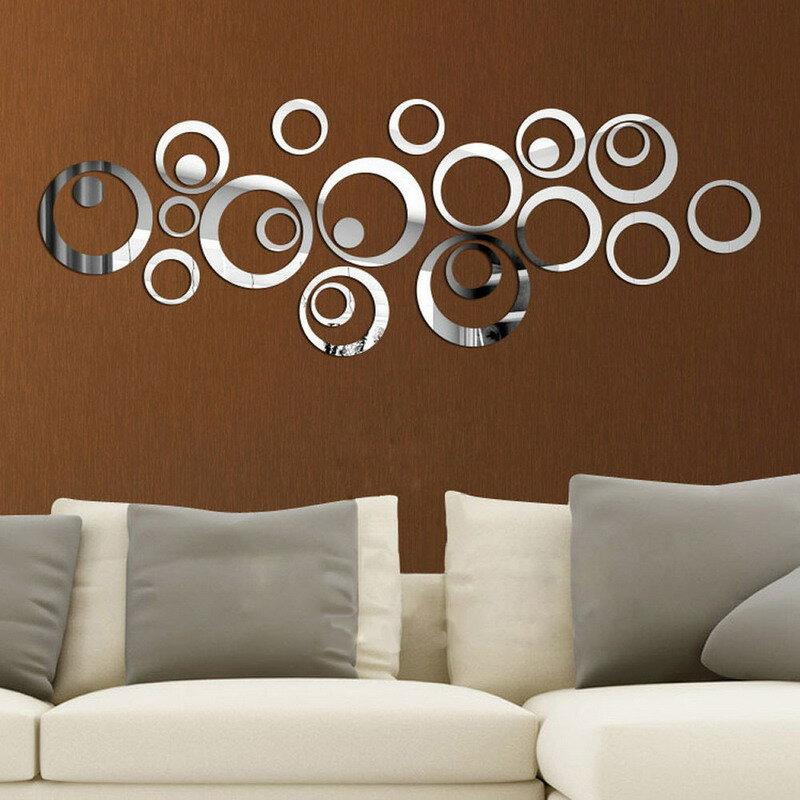 24Pcs Kreise Spiegel Wand Aufkleber Abnehmbare Aufkleber Vinyl Kunst Wandbild Zimmer Dekoration Home Adesivo De Parede Drop Verschiffen