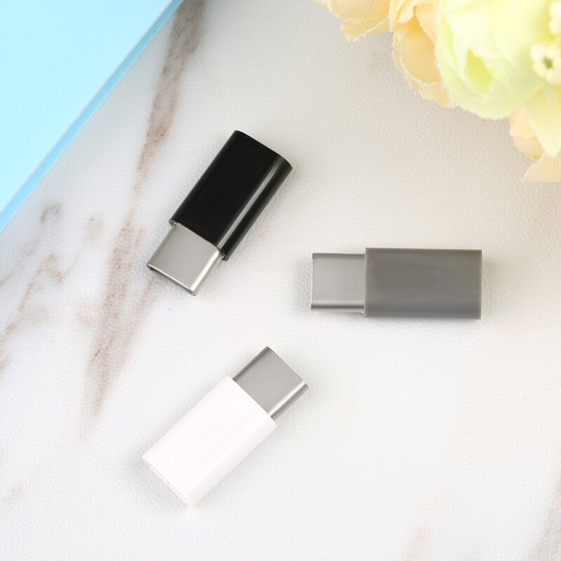 FFFAS USB 3.1 tipo-c cavo adattatore Micro USB femmina a tipo C maschio USB-C caricabatterie convertitore per Xiaomi Mi6 Huawei P9 P10 Letv 2