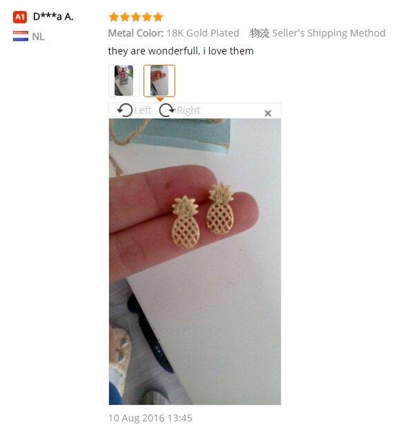Jisensp الموضة نحى الأناناس وأقراط داينتي البسيط بوست أقراط هدية مجوهرات brincos 2017 e105