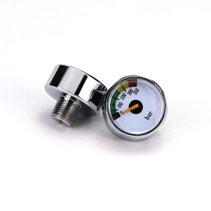 ใหม่ Paintball ปืน Airsoft PCP Air RIFLE MINI Manometer 350bar Air Acessorios 1/8NPT-Silver