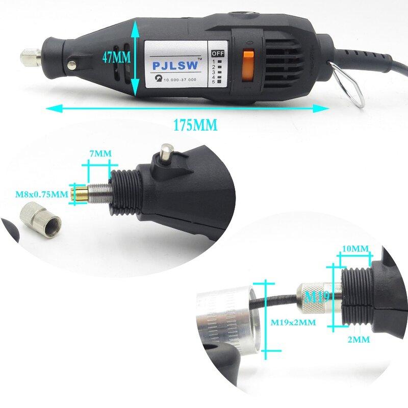 عالية الجودة 220 V/110 V 180 W (دريميل نمط) الكهربائية الروتاري أداة متغير سرعة مثقاب صغير