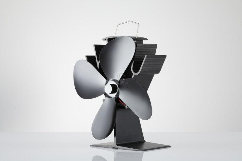 Spedizione gratuita Mini 4 Lama Ecofan 12 Mesi di Garanzia Stufa Top Ventilatore Stufa Ventilatore Risparmio di Carburante 16% Fan