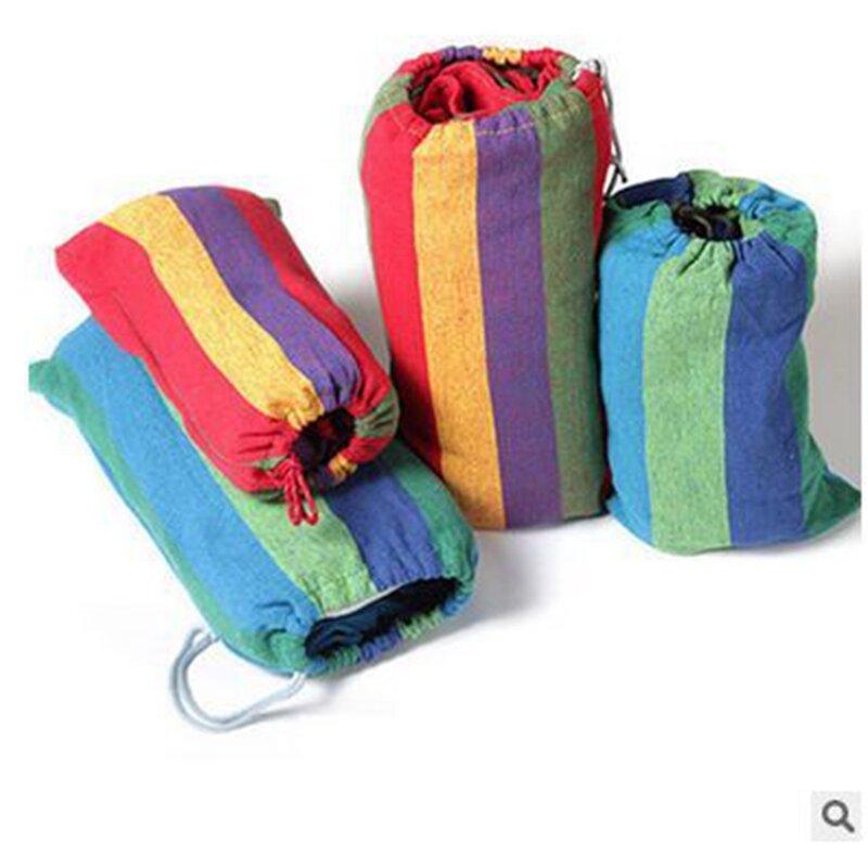 أرجوحة محمولة عالية الجودة للحديقة الخارجية ، سرير معلق ، أرجوحة سفر ، تخييم ، شريط قماش
