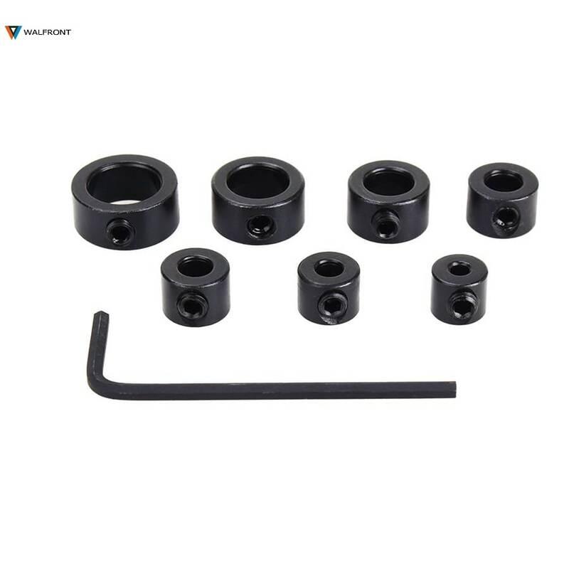 8 pz/set 3-12mm punta da trapano strumenti profondità Stop collare posizionatore anello spaziatura localizzatore strumenti per la lavorazione del legno con guida esagonale