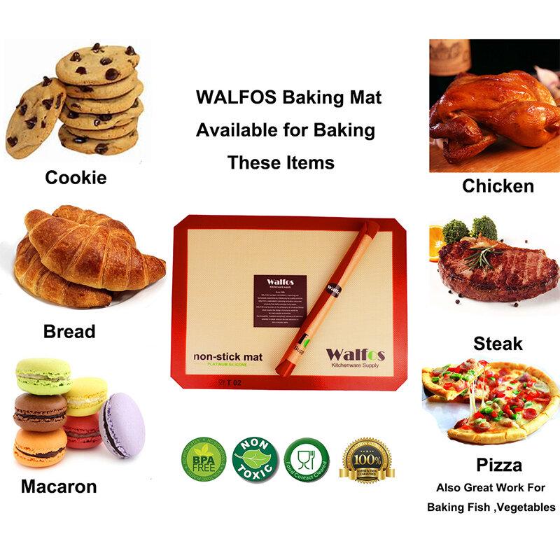 WALFOS ยี่ห้อเบเกอรี่ Liner Non Stick ซิลิโคน Non-Stick Baking Cookie Liner Pastry Mat Bakeware เครื่องมือ
