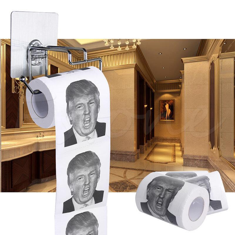 Hot!!! Donald Trump Humor Wc Papier Rolle Neuheit Lustige Gag Geschenk Dump mit Trump