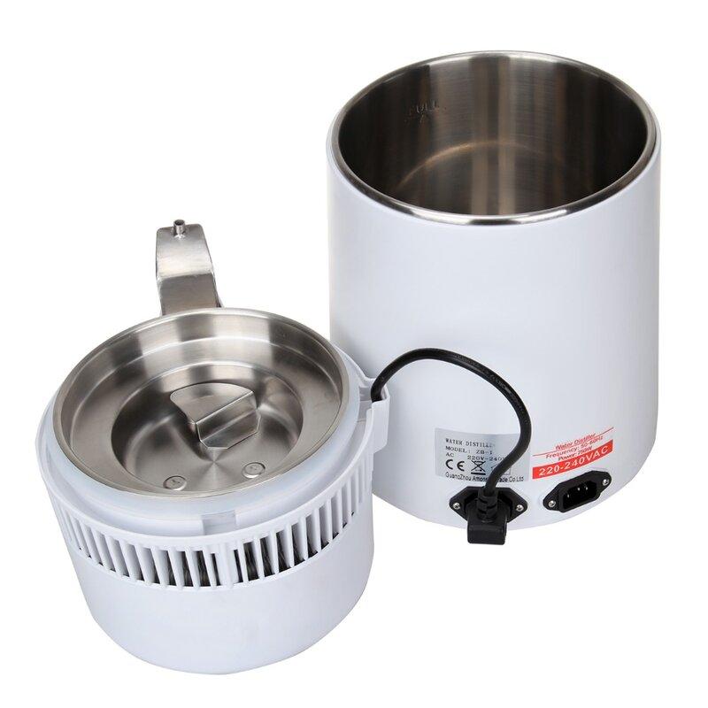 (Schiff von EU) 4L Reines Wasser Distiller Filter Maschine Reiniger Filtration Krankenhaus Home Büro Küche Wasser Destillie