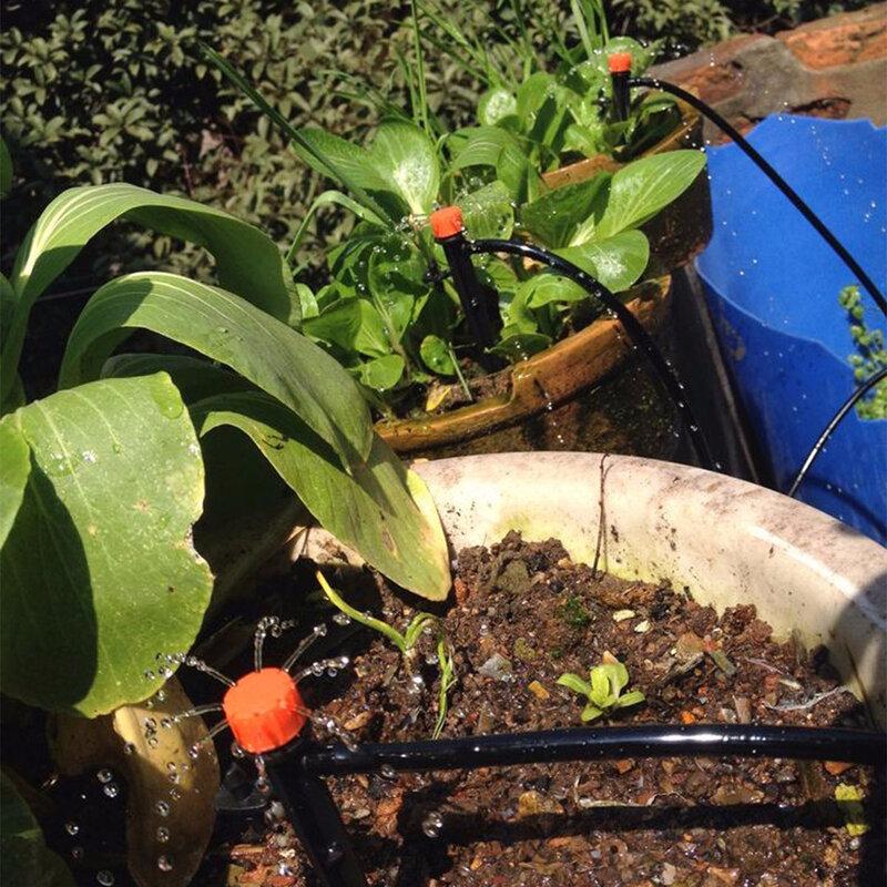 Sistema de riego por goteo automático para jardín, Kits de riego por microgoteo con goteros ajustables, manguera de 5M, 15M, 25M, DIY
