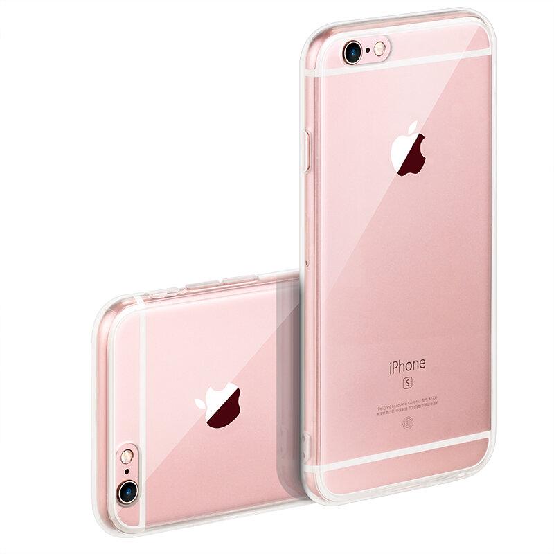 IQD pour Apple iPhone x 6 6s 7 8 Plus étui Transparent en ptu coque mince en cristal Silicone étui de protection Transparent étui rigide XS Max