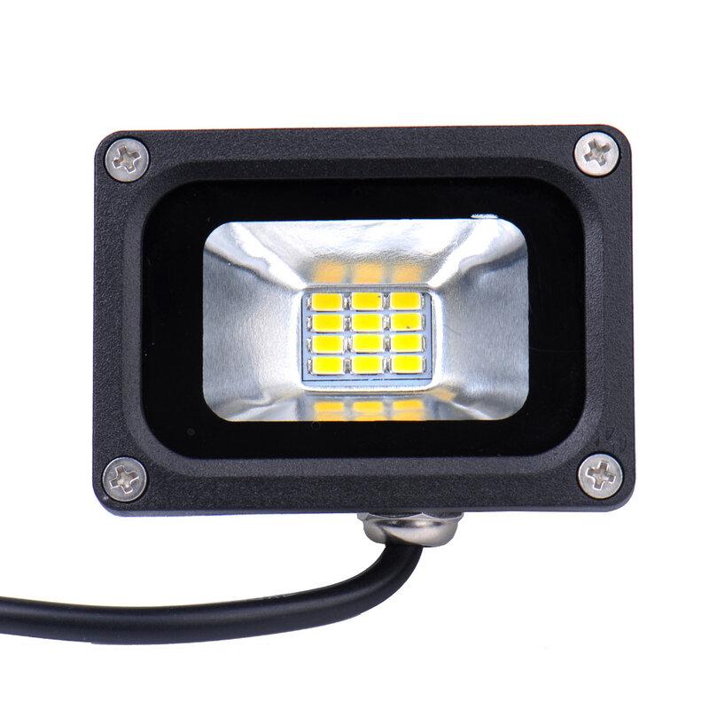 Projecteur imperméable conforme à la norme LED, conforme à la norme LED, projecteur d'extérieur, éclairage de paysage, lumière blanche chaude/froide à large faisceau, idéal pour le jardin, 12V, 10W