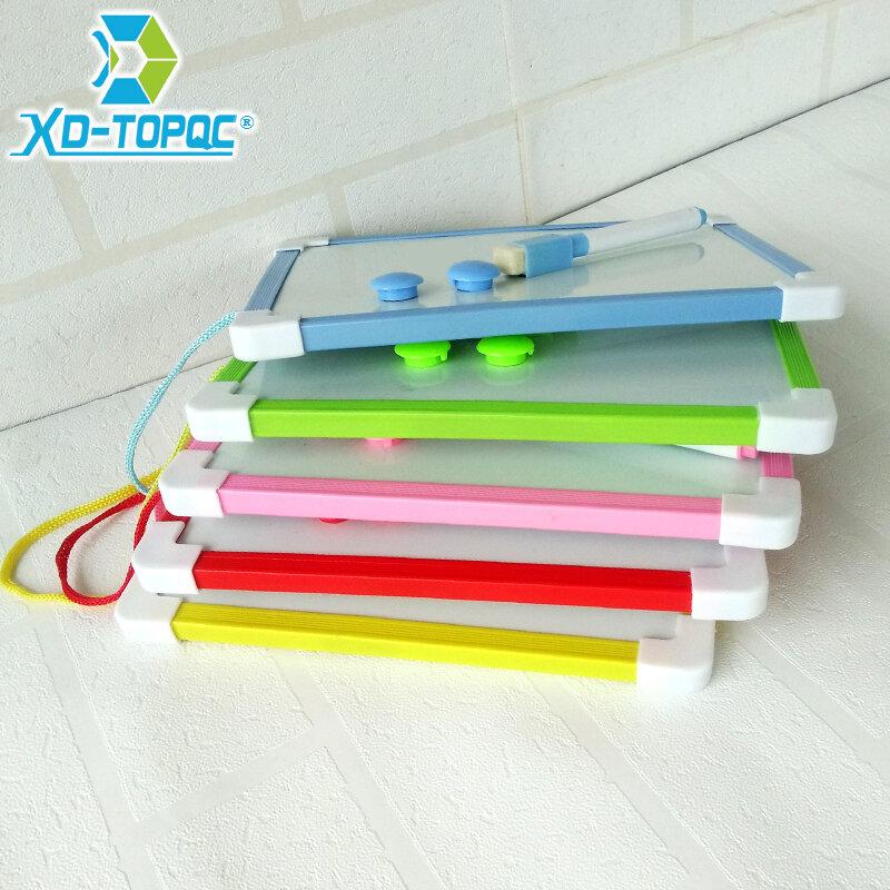 Ardoise magnétique blanche 20,5x15,6 cm pour enfant, Planche magique à effacer suspendue avec stylo, cadre 5 couleurs,