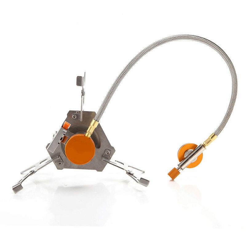 Portable extérieur pliant cuisinière à gaz Camping équipement randonnée pique-nique 3500 W allumeur Camping cuisinière à gaz