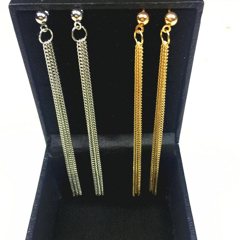Vintage الشرابة أقراط إسقاط أقراط للنساء مجوهرات فاخرة طويلة استرخى القرط e085