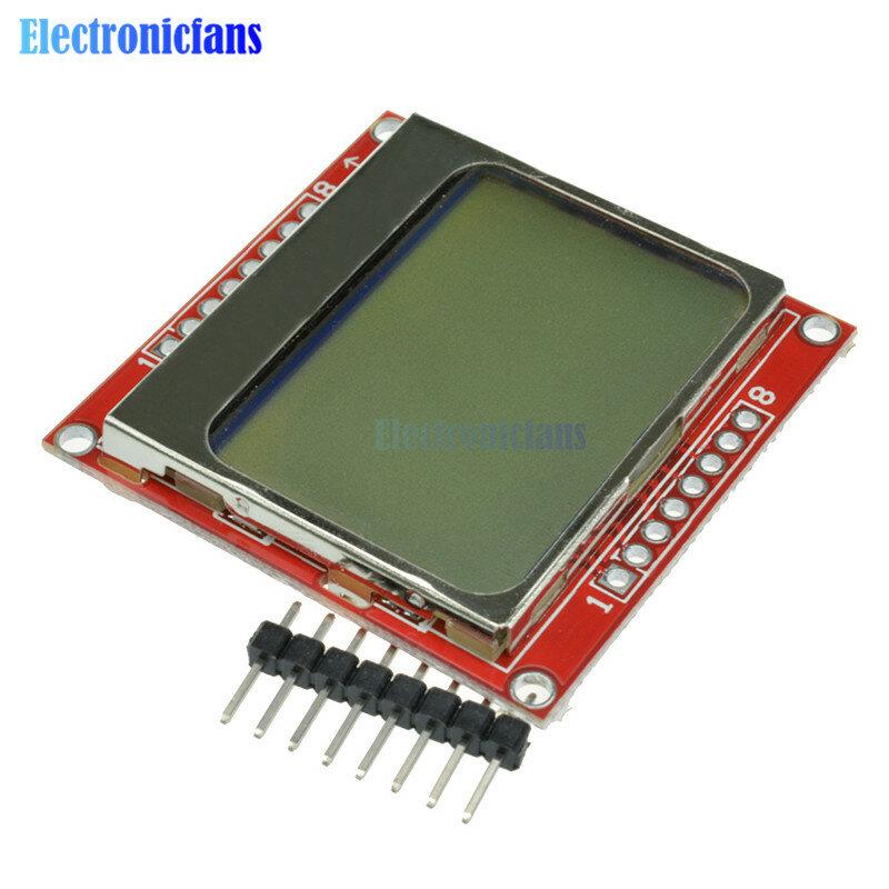 84x48 84*48 5100 LCD 스크린 모듈 LCD 디스플레이 모니터 흰색 백라이트 어댑터 Arduino 컨트롤러 용 3.3V 도트 매트릭스 디지털