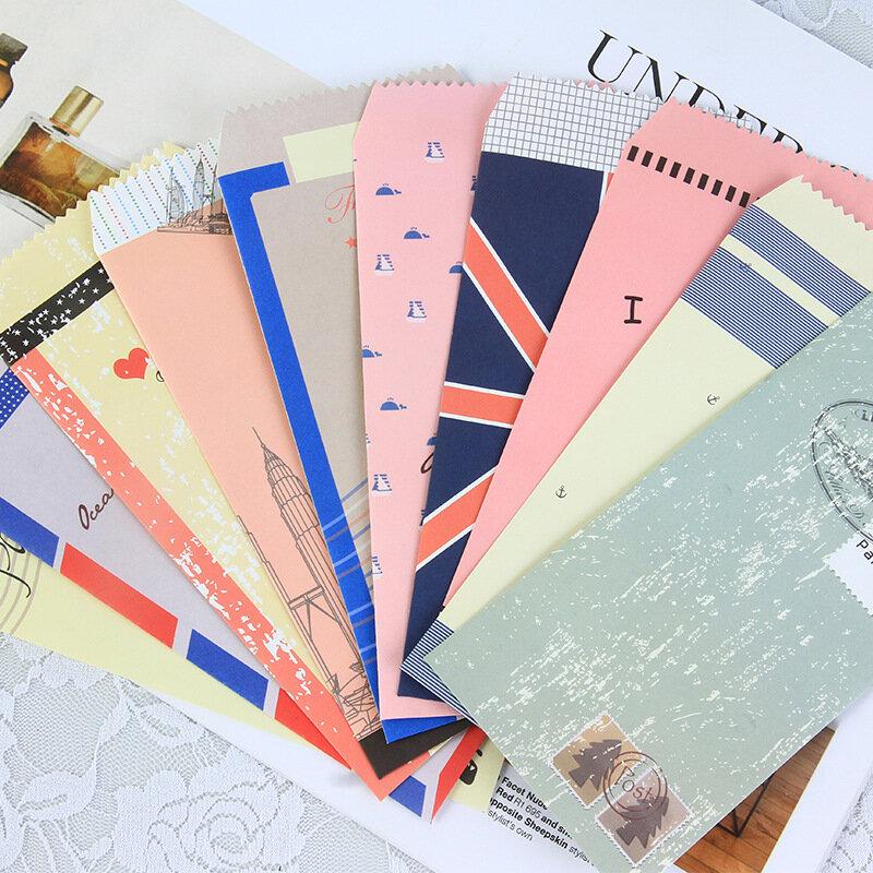 20 unids/lote lindos dibujos animados de Corea Mini colorido de Sobres de papel Kawaii regalo bebé pequeño de sobres para Carta de Boda Invitaciones