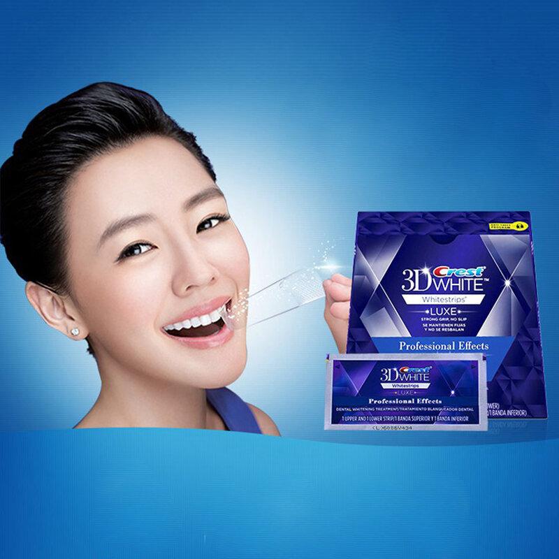 NO SCATOLE Crest 3D Bianco LUXE Whitestrips sbiancamento dei denti 10 Borse Multiuso (20 strisce)