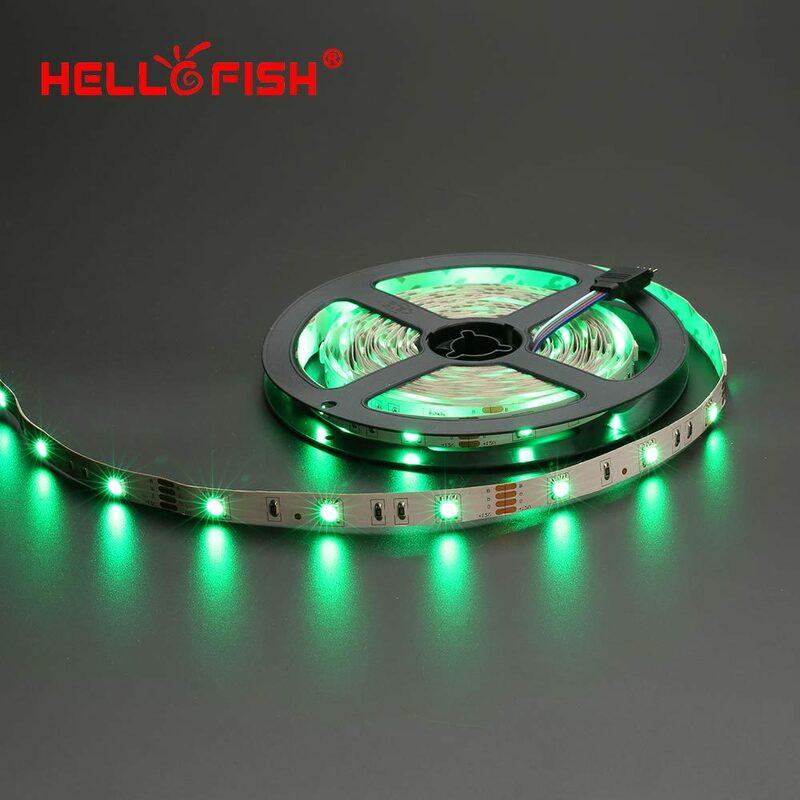 Bonjour Poissons 5 M 12 V 5050 RGB LED bande, 150 LED bande + 24/44 clé à distance contrôleur Kit Flexible LED Bande kit