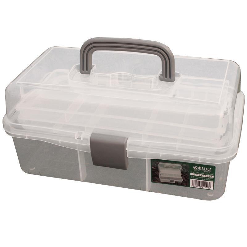 LAOA cassetta degli attrezzi piegata colorata cassetta degli attrezzi pieghevole cassetta degli attrezzi cassetta dei medicinali Kit Manicure Workbin per la conservazione