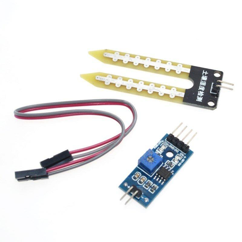 مستشعر رطوبة التربة الإلكتروني الذكي ، وحدة مستشعر الرطوبة للوحة تطوير arduino ، DIY ، سيارة روبوت ذكية