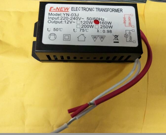 جديد G104 جديد 160 واط 220 فولت الهالوجين ضوء LED سائق محول لإمداد الطاقة محول إلكتروني