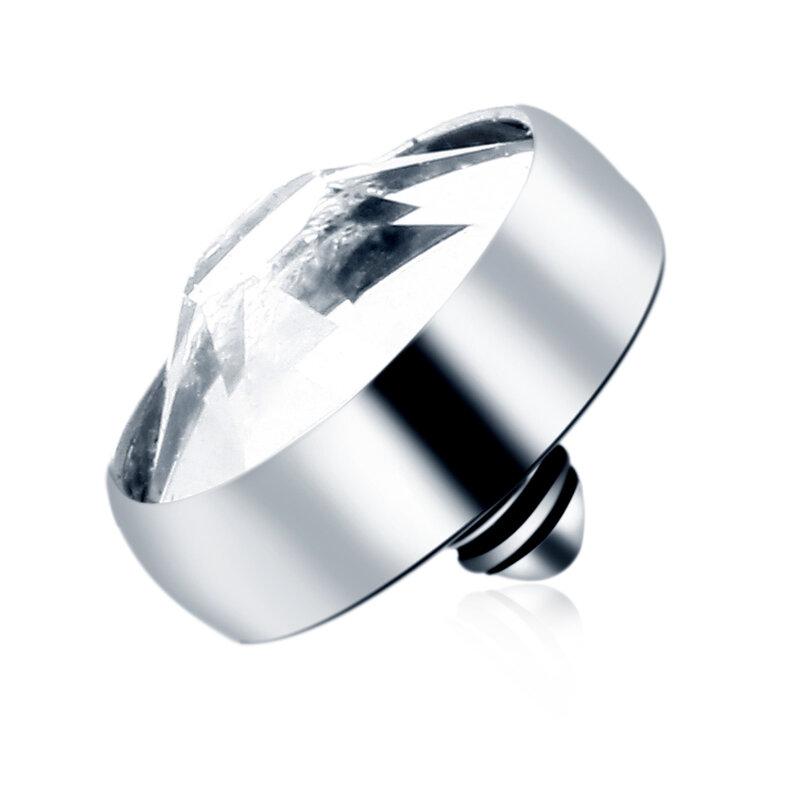 1 قطعة G23 التيتانيوم مايكرو الجلدية مرساة أعلى ثقب واضح جوهرة الجلد غواص الجلد مرساة سطح ثقب يزرع مثير مجوهرات