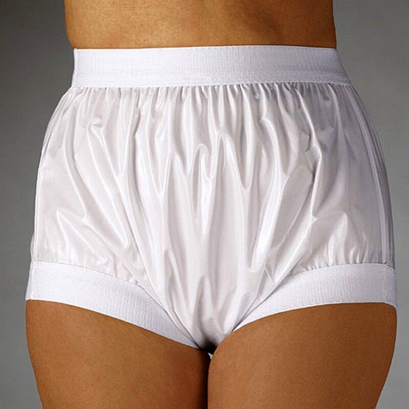 Pantalon en plastique large élastique pour adultes pour bébés, FUUBUU2207-White-XXL-1PCS, livraison gratuite