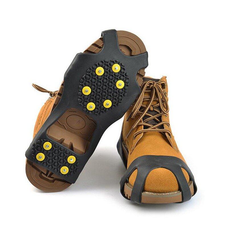 Pour chaussures universelles de neige, 10 Crampons, pinces à Crampons, hiver, escalade, antidérapantes, couverture pour chaussures de Camping, taille S M, L et XL
