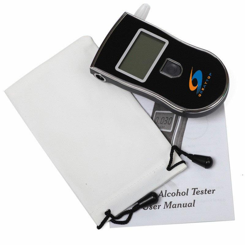 새로운 뜨거운 판매 전문 경찰 디지털 숨 결 알코올 테스터 음주 측정기 무료 배송 dropshipping