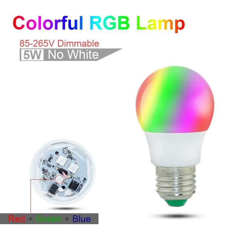 E27 LED RGB Bulb Lamp AC110V 220V 3W E14 Spot Light Dimmable Magic Holiday RGB Lighting IR Remote Control 16 Colors 270 Degree
