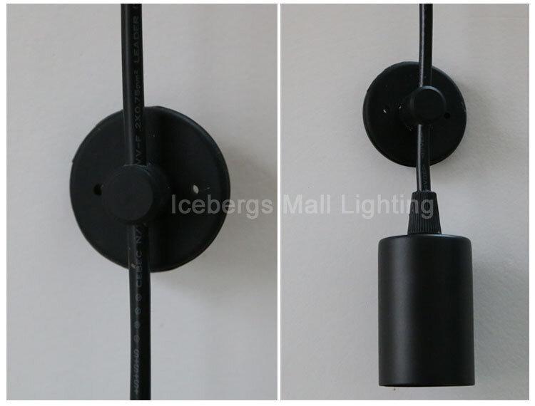 현대 노르딕 레트로 에디슨 전구 라이트 샹들리에 빈티지 로프트 골동품 조절 DIY E27 아트 스파이더 펜던트 램프 홈 조명