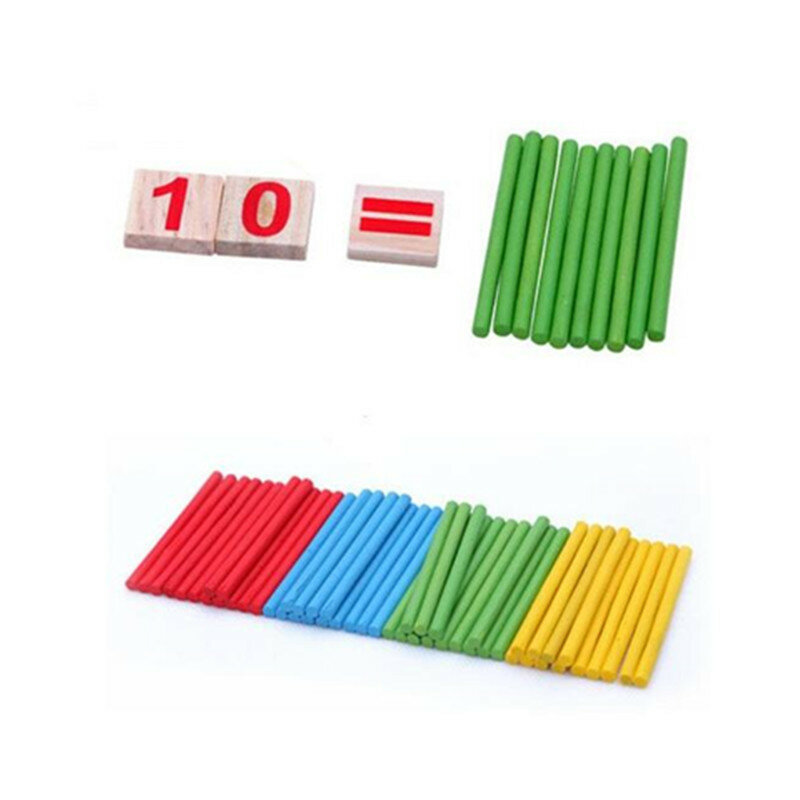 Giocattoli di Matematica Montessori Educativi Giocattoli di Legno per I Bambini di Apprendimento Precoce Di Puzzle Per Bambini Numero di Conteggio Spiedi Sussidi Didattici