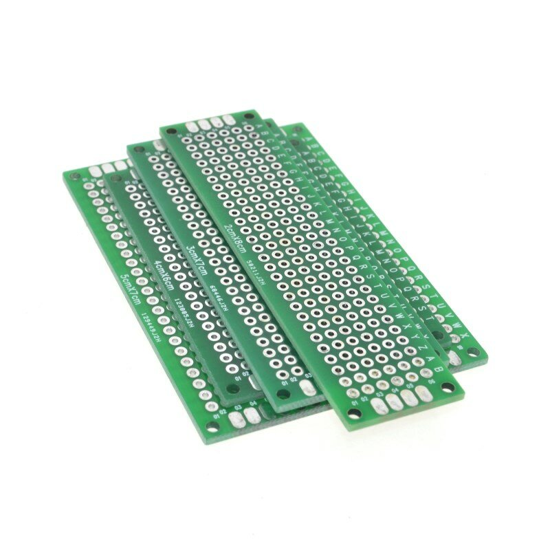 Freies Verschiffen Dropshipping 4PCS 5x7 4x6 3x7 2x8cm doppel Seite kupfer prototyp pcb Universal-Board Fiberglas bord für Arduino