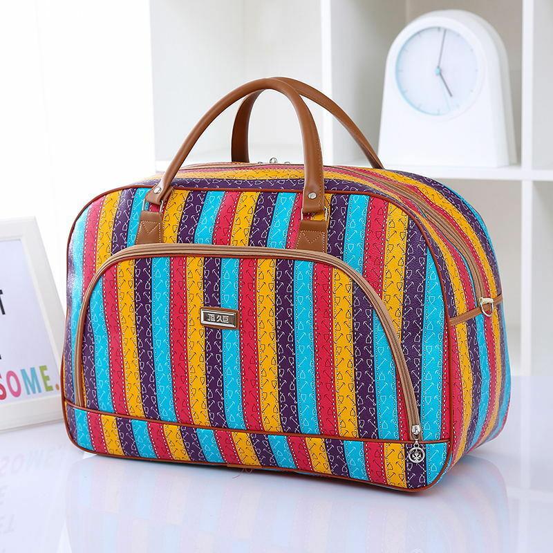 여자 여행 가방 2018 패션 pu 가죽 대용량 방수 인쇄화물 더플 백 캐주얼 여행 가방 pt1083