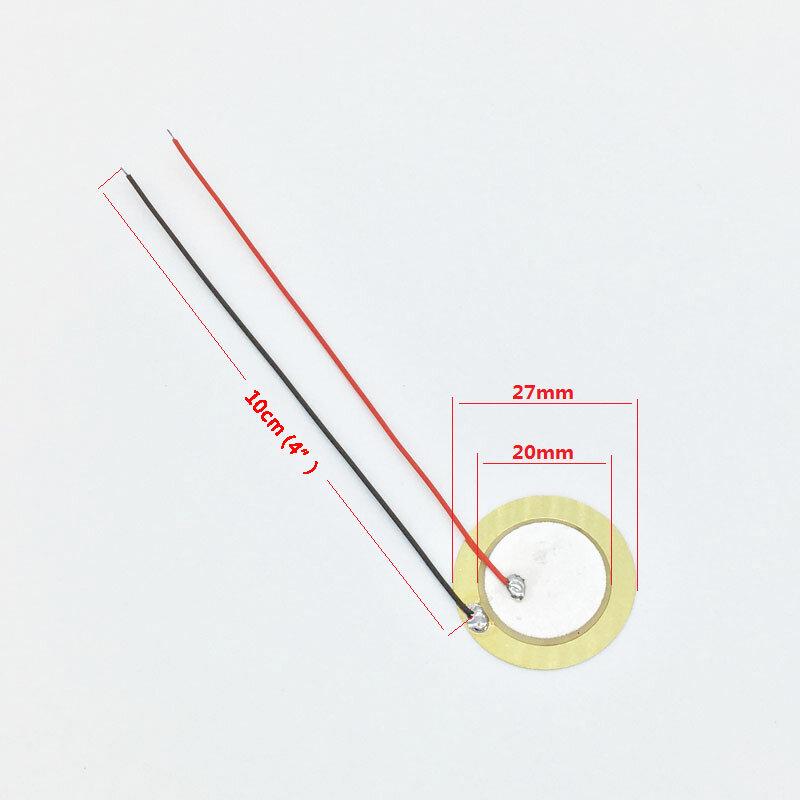 """6 stück 20mm / 27mm Pickup Piezo Disc Elemente mit 10cm (4 """") führt Zigarre Box Gitarre Pickup Reparatur Luthier Werkzeug"""