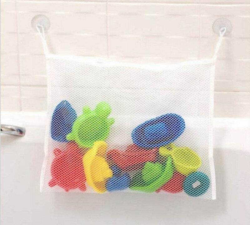 Giocattoli da bagno per bambini per bambini borsa a ventosa per stoccaggio ordinata giocattoli da bagno per bambini borsa a rete organizer Net