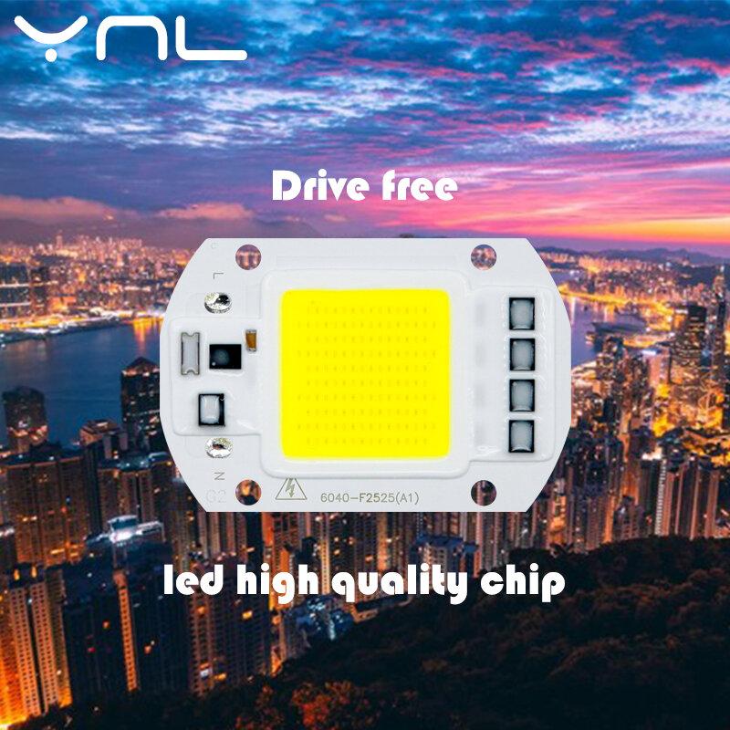 رقاقة COB LED ، 50 واط ، 110 فولت ، 220 فولت ، 30 واط ، 20 واط ، 10 واط IC ذكي مناسب للاستخدام في الهواء الطلق ، لا حاجة إلى محرك
