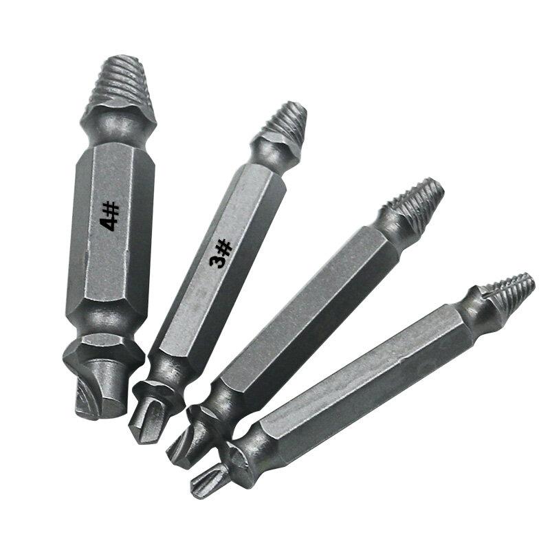 4pcs Danneggiato Screw Extractor Drill Bit di Guida Set Rotto Velocità Fuori Facile fuori Bullone Della Vite Prigioniera Stripped A Vite Remover Tool