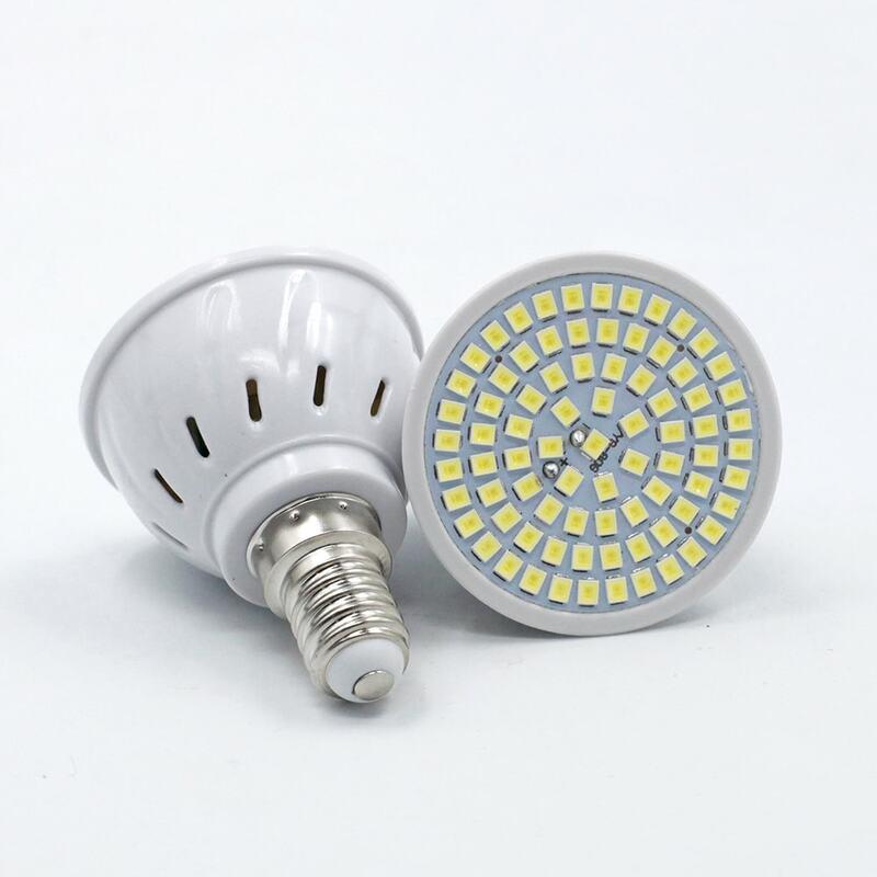 مصباح led Lampada 48 مصباح 60 مصباح 80 مصباح LED بتيار متردد 220 فولت SMD 2835 لمبة إضاءة ليد GU10 MR16 E27 E14 للمنزل موفر للطاقة